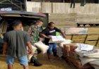 Peduli Warga Binaan, Babinsa Cempaka Putih Kawal Bantuan Untuk Korban Banjir